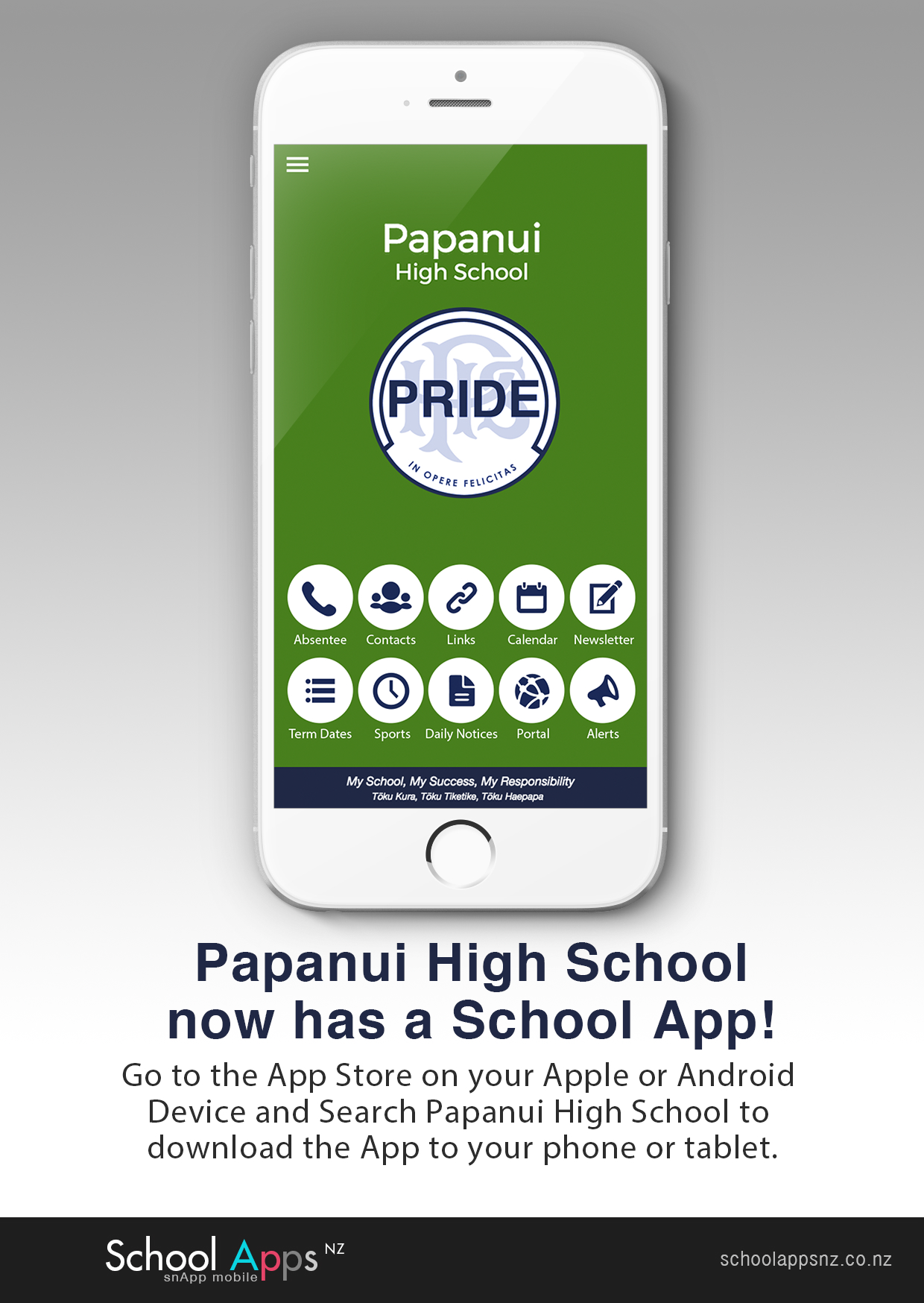 Flyer For School App